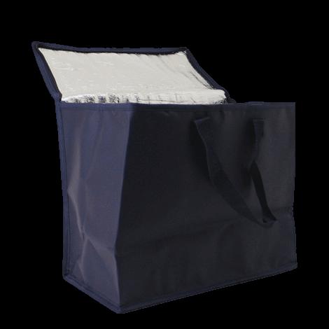 dunkelblau kühltasche isoliert