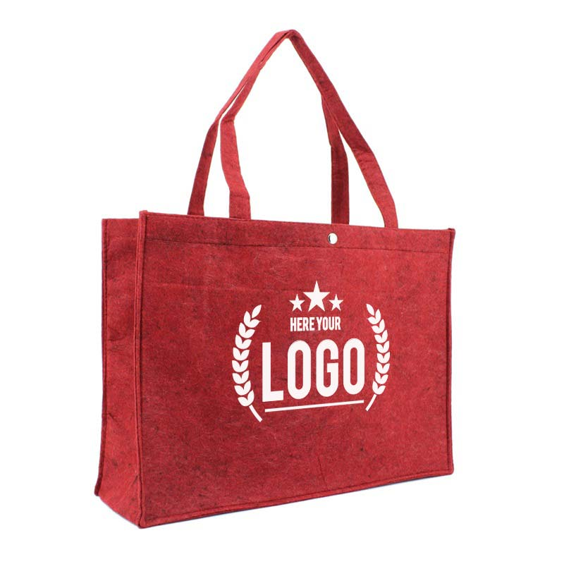 rot filztasche logo weiss
