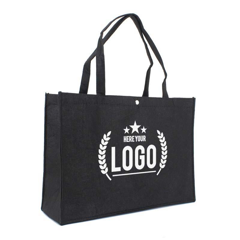 filztasche schwarz logo weiss