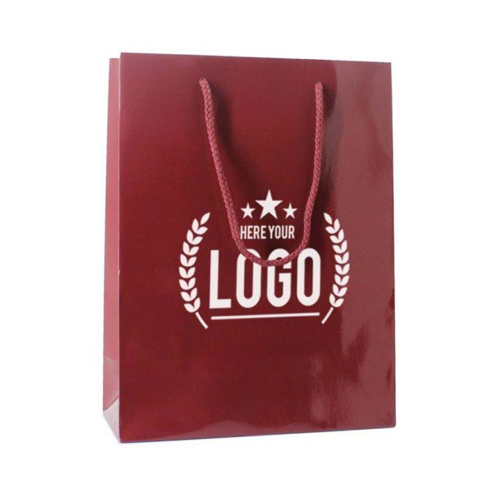 rot tragetasche weiss logo