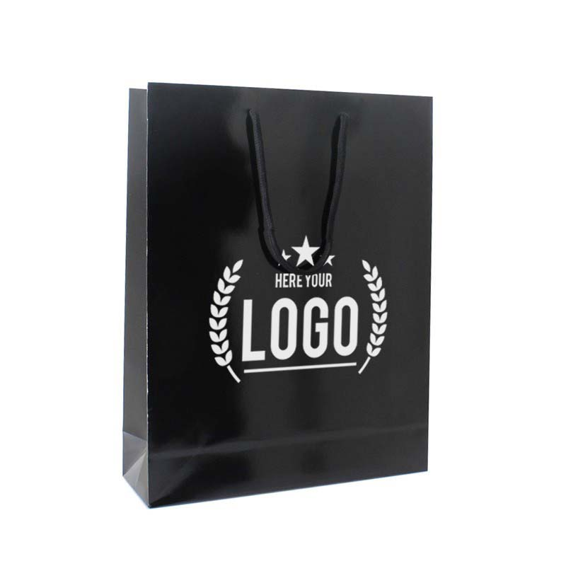 schwarz weiss papier tüte logo