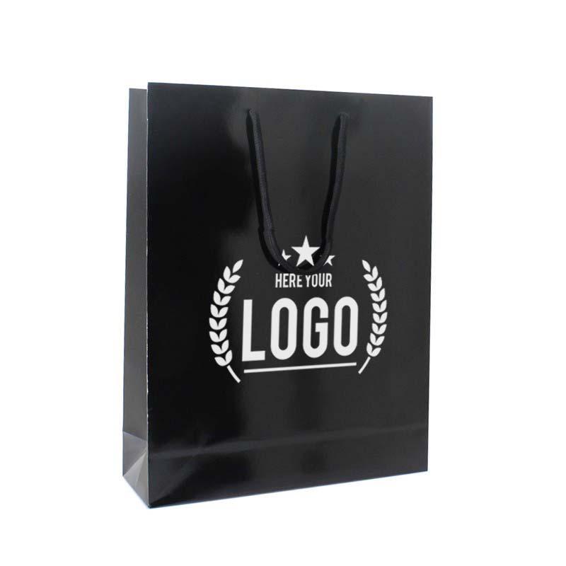 schwarz weiss tragetasche logo