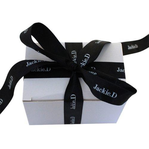 schwarz weiss geschenkband