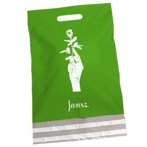 grün papier tasche hand rose
