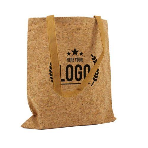 kork tasche braun logo schwarz