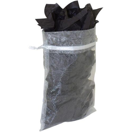 schwarz tuch transparent beutel