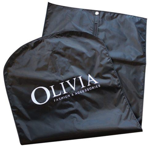 schwarz kleiderhülle olivia logo weiss