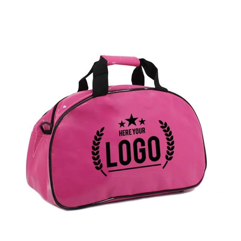pink bowling tasche schwarz logo