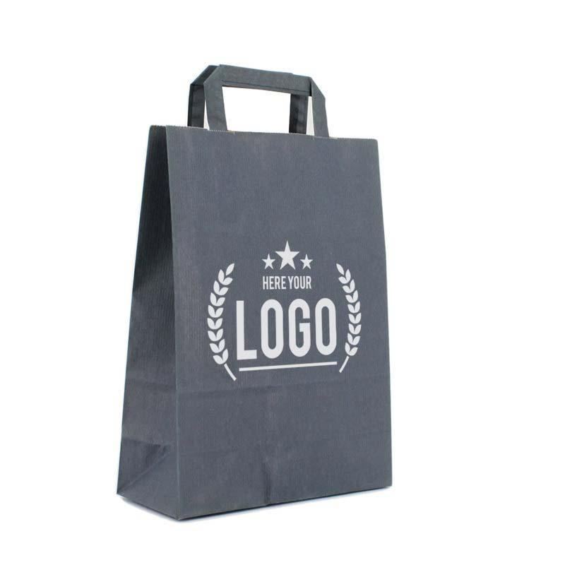 dunkelblau papiertasche logo weiss