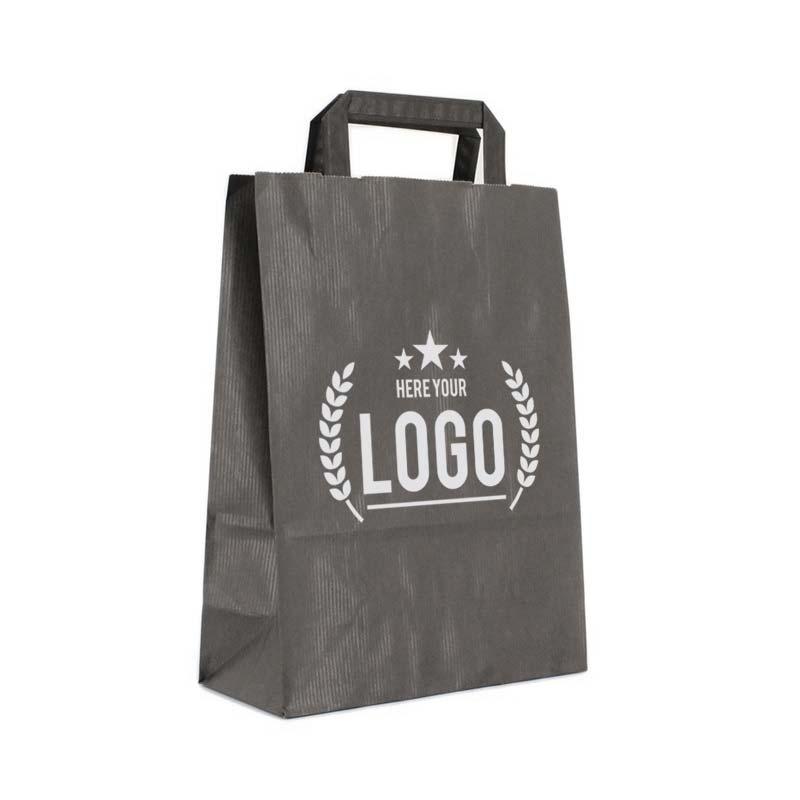 schwarz papiertasche weiss logo