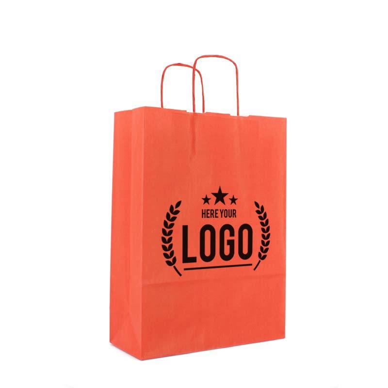 rot tragetasche papier tüte schwarz logo