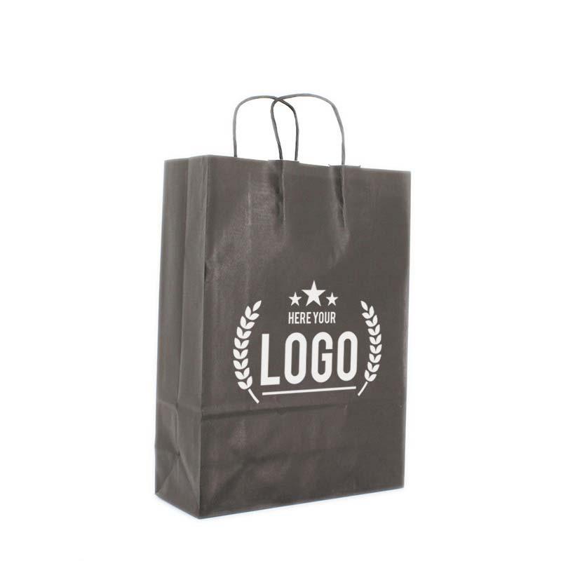 schwarz tragetasche weiss logo