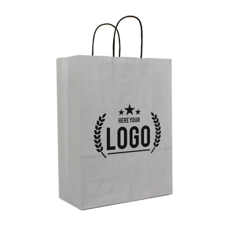 grau tragetasche schwarz logo