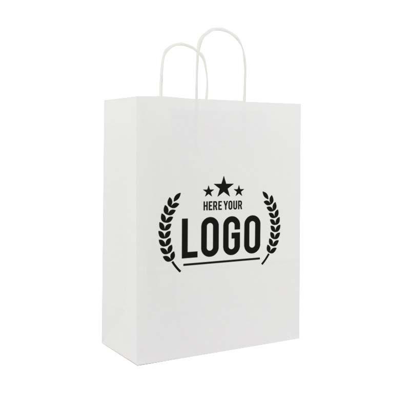 weiss trage tasche schwarz logo