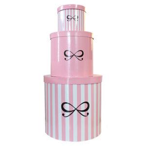 runde box drei pink weiss hunkemüller