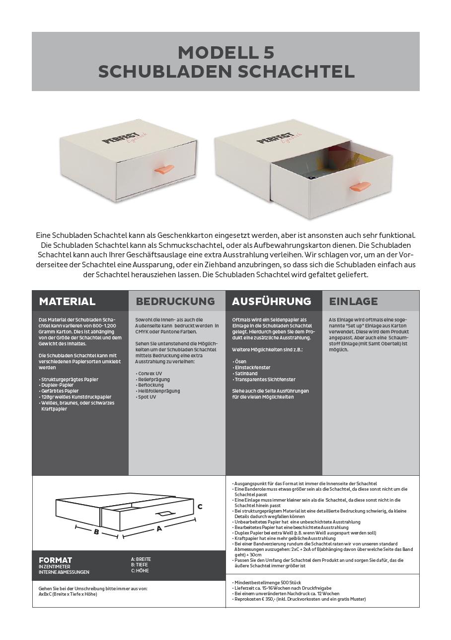 schubladen schachtel box beschreibung