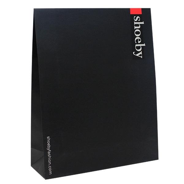 schwarz papier tüte logo weiss
