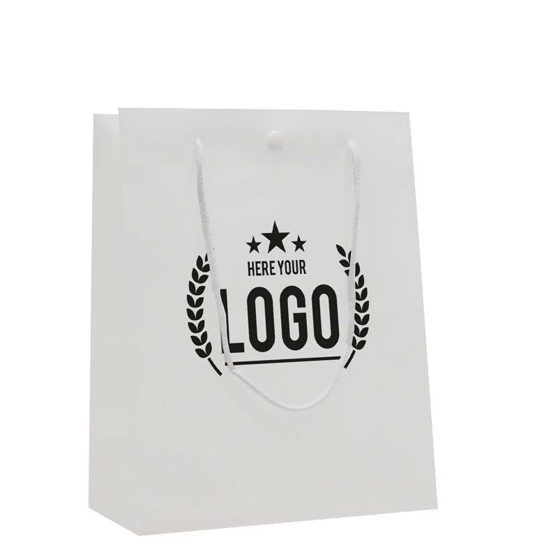 weiss papiertasche logo schwarz