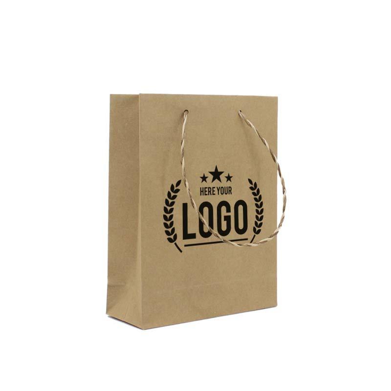 recycelte plastiktüte braun logo schwarz