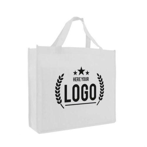filztasche weiss logo schwarz