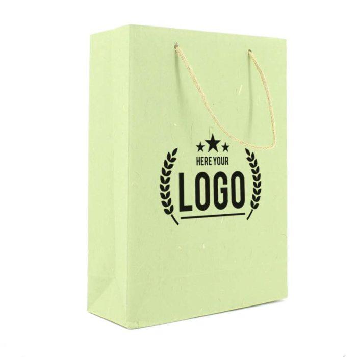 zerotree tragetasche grün kordel logo schwarz