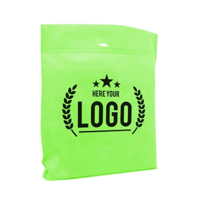 grün tragetasche logo schwarz