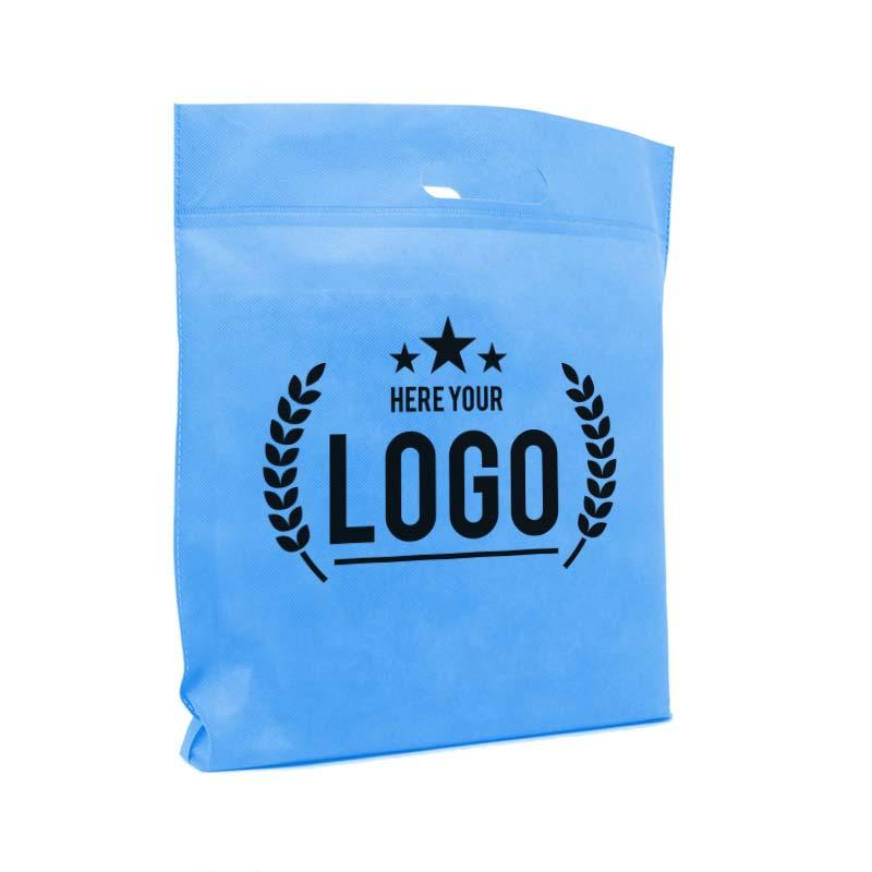 blau tragetasche logo schwarz