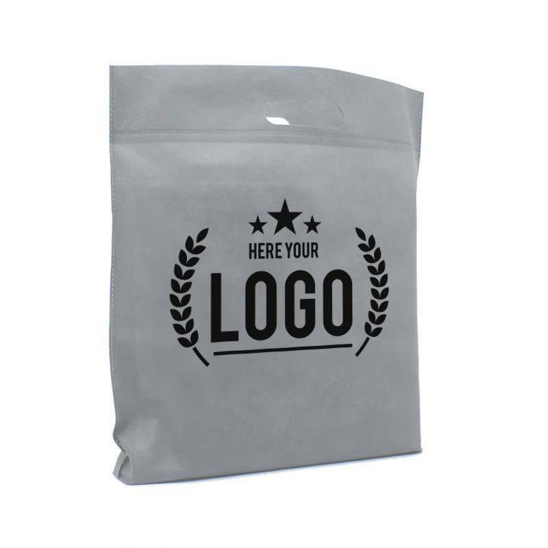 tragetasche grau logo schwarz