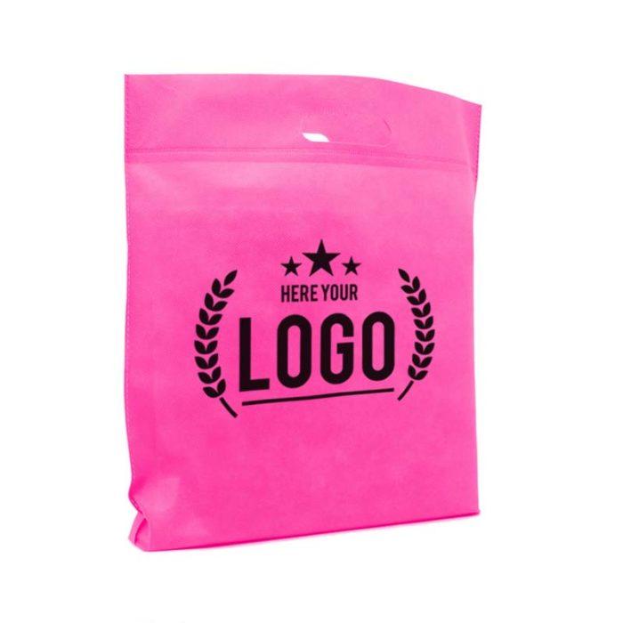 tragetasche pink logo schwarz