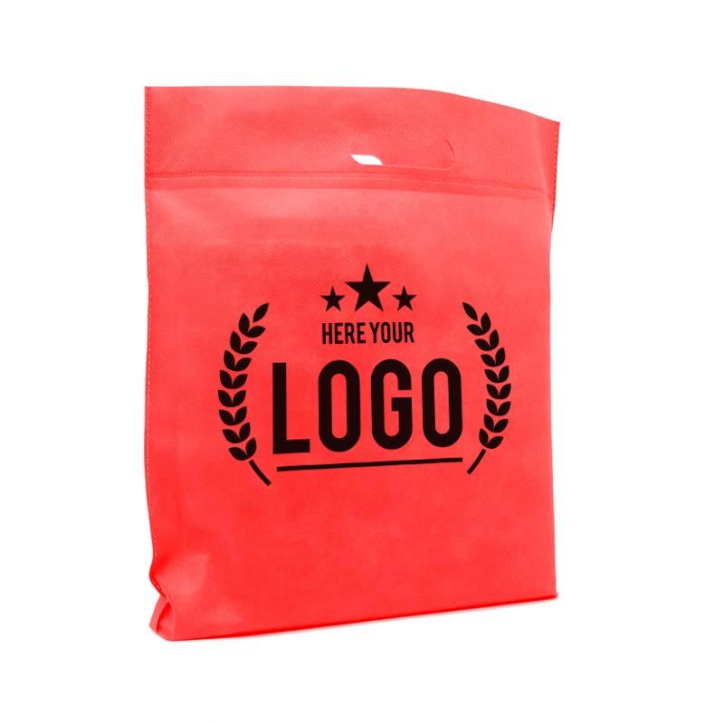 tragetasche rot logo schwarz