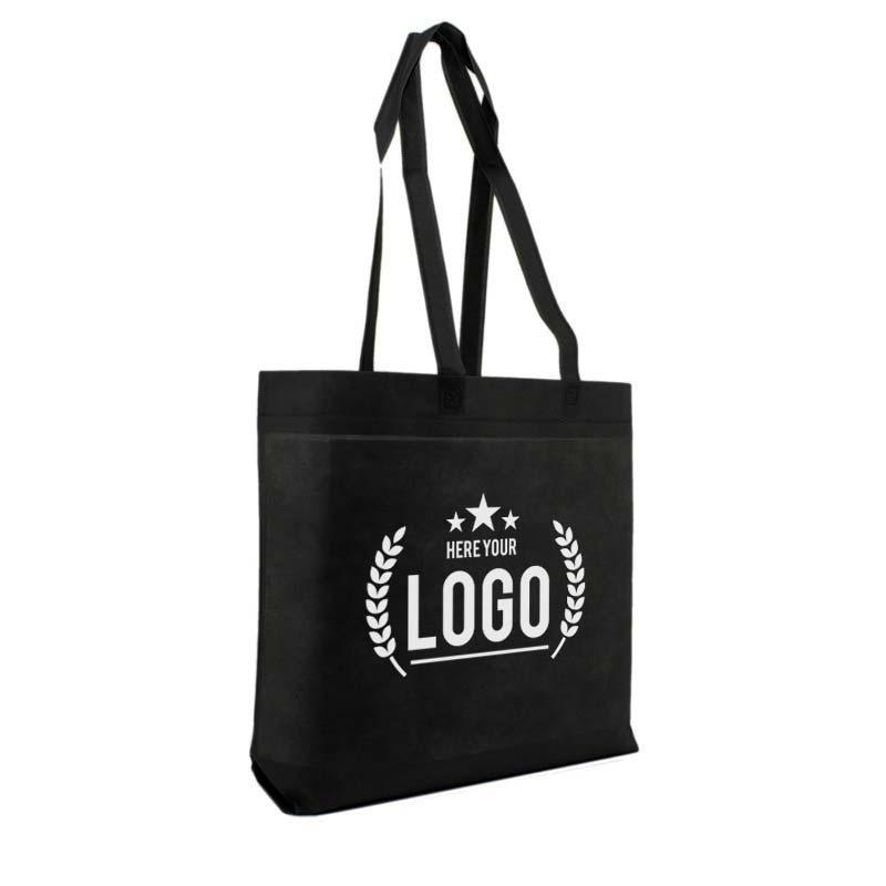 schwarz tragetasche logo weiss