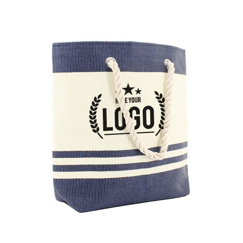 blau weiss strand tasche logo schwarz