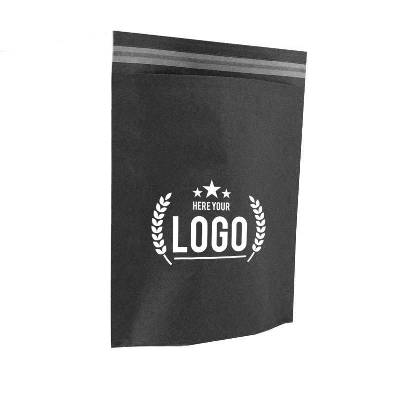 schwarz papier tasche logo