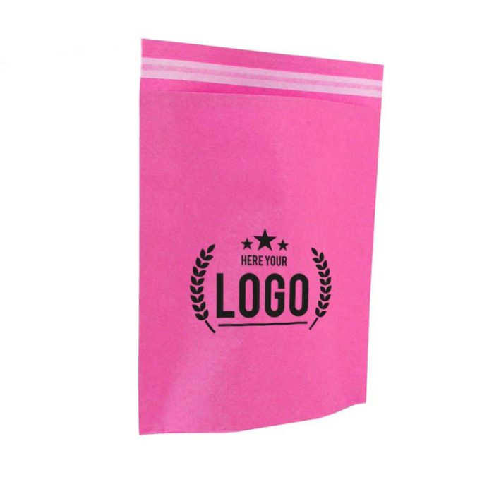 pink papier tasche logo